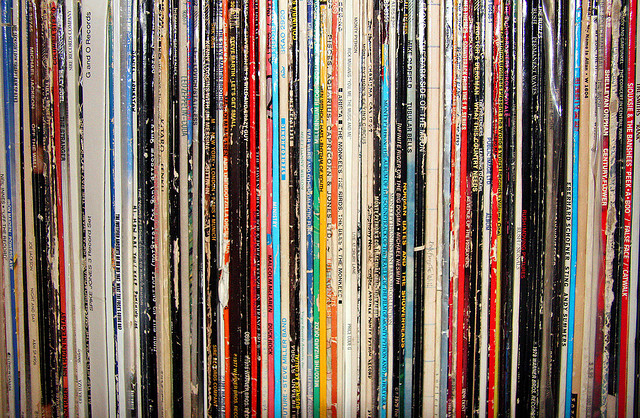 vinyl-records-on-a-shelf